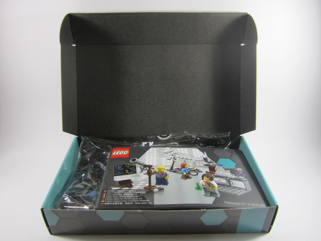 LEGO Ideas 21110 Research Institute Opened Box