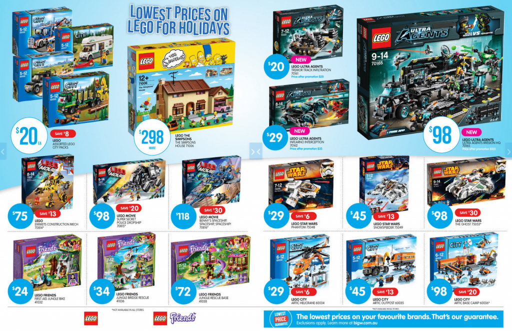 Big W LEGO Sale September 2014