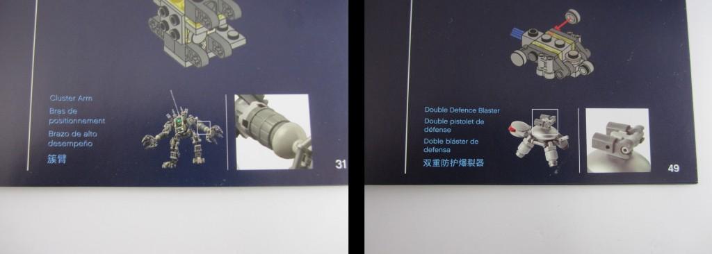 LEGO 21109 Exo Suit Booklet Descriptions