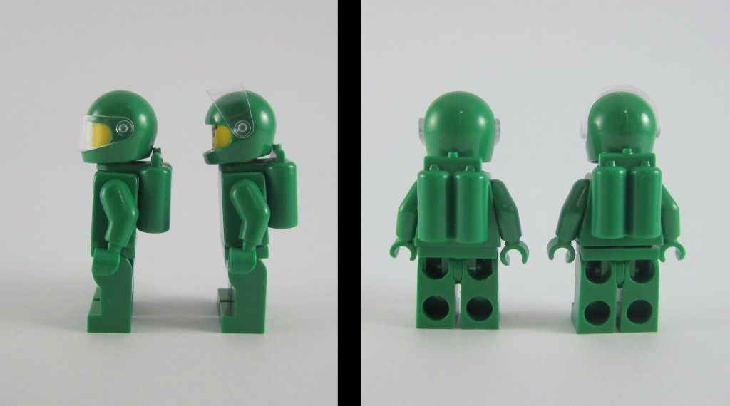 LEGO 21109 Exo Suit Green Space Mnifigs Side