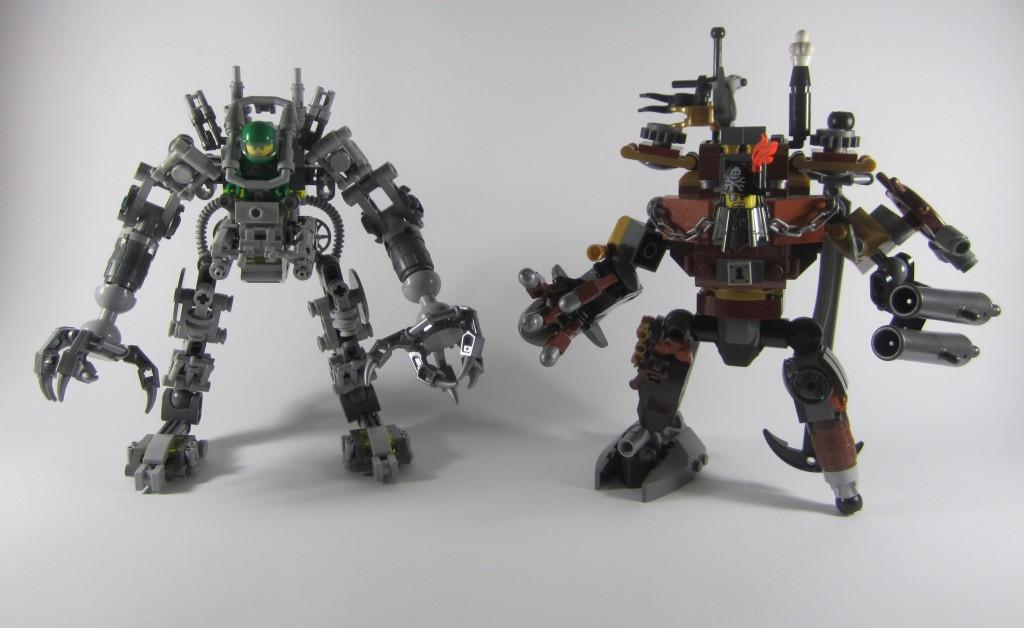 LEGO Exo Suit Size Comparison Metalbeard