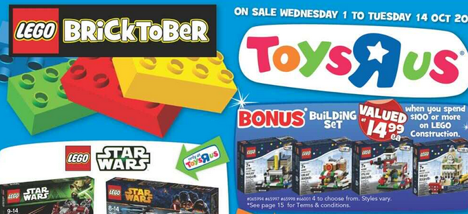 "Toys ""R"" Us Australia Bricktober 2014 Promotion – Mini Modular Sets Available 1 October"