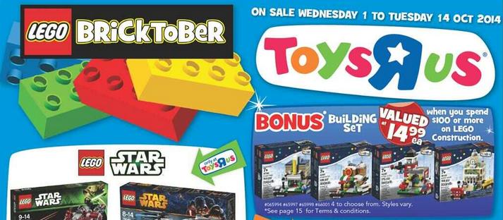 "67fa66a5fc3 Toys ""R"" Us Australia Bricktober 2014 Promotion – Mini Modular Sets  Available 1 October"