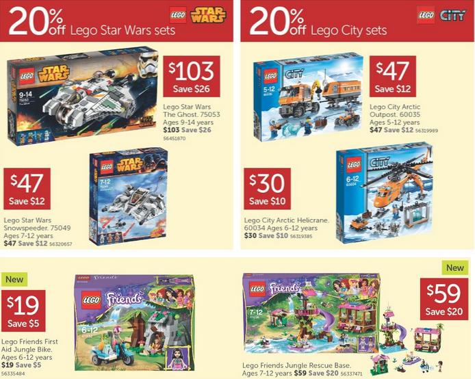Target LEGO Sale September 2014