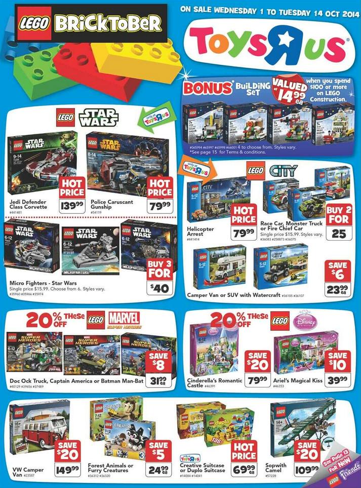 Toys R Us Australia Bricktober Promotion 2014