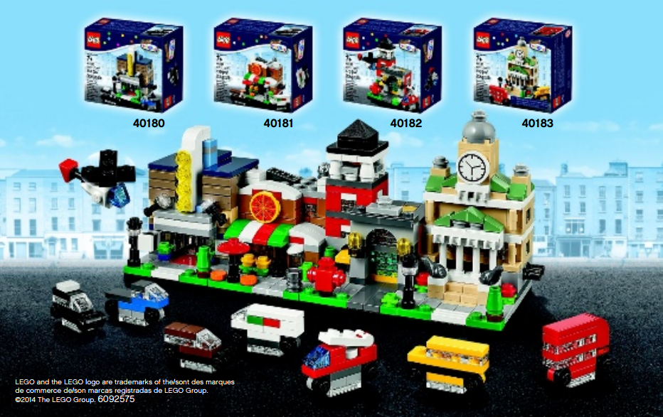 Toys R Us Bricktober Mini Modular Sets