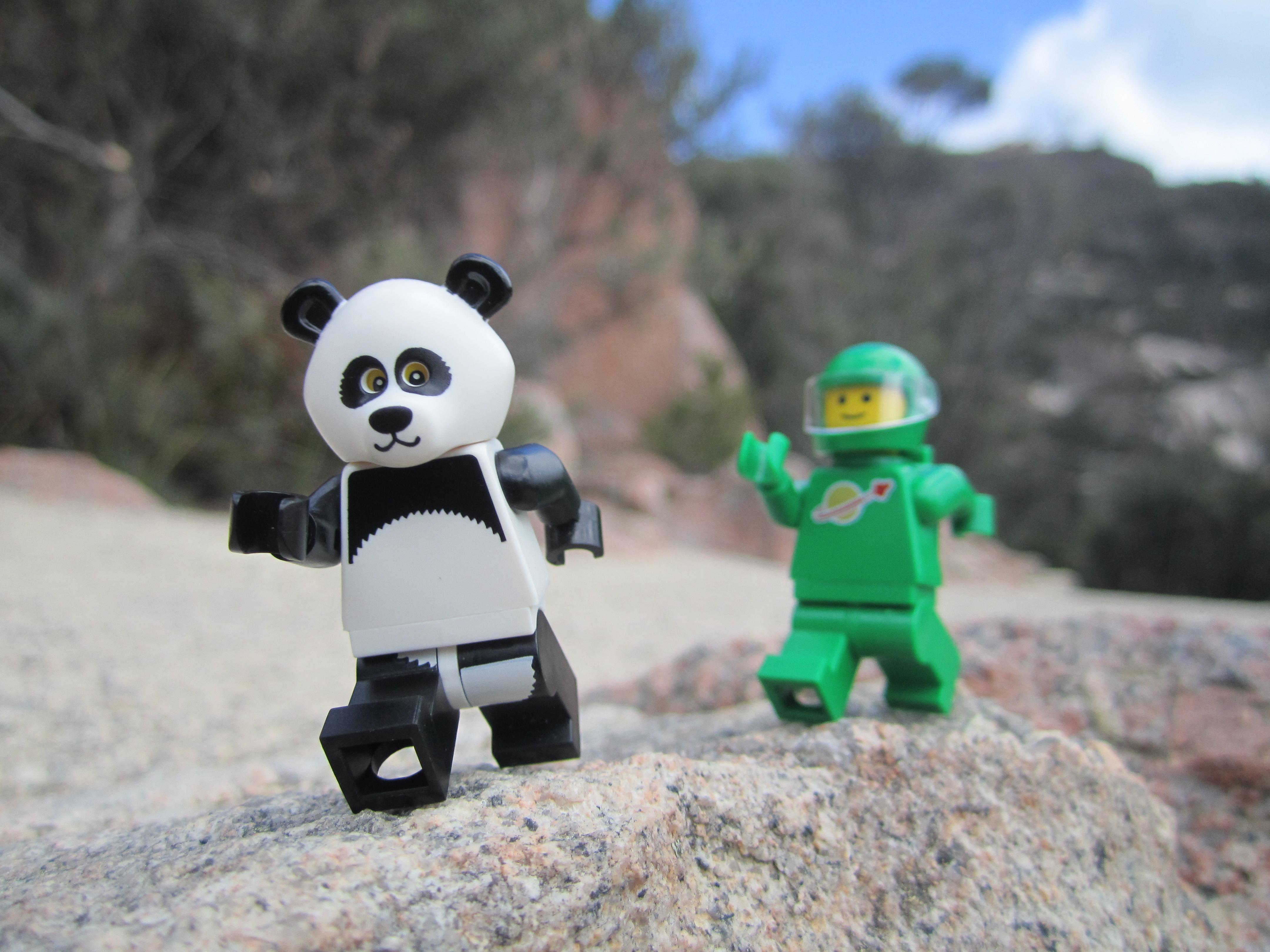 LEGO panda bear: Building video - YouTube