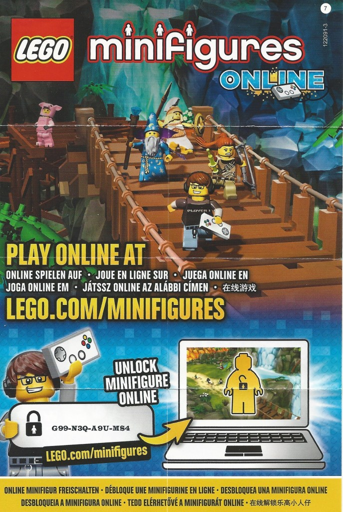LEGO Series 12 Character Online Code