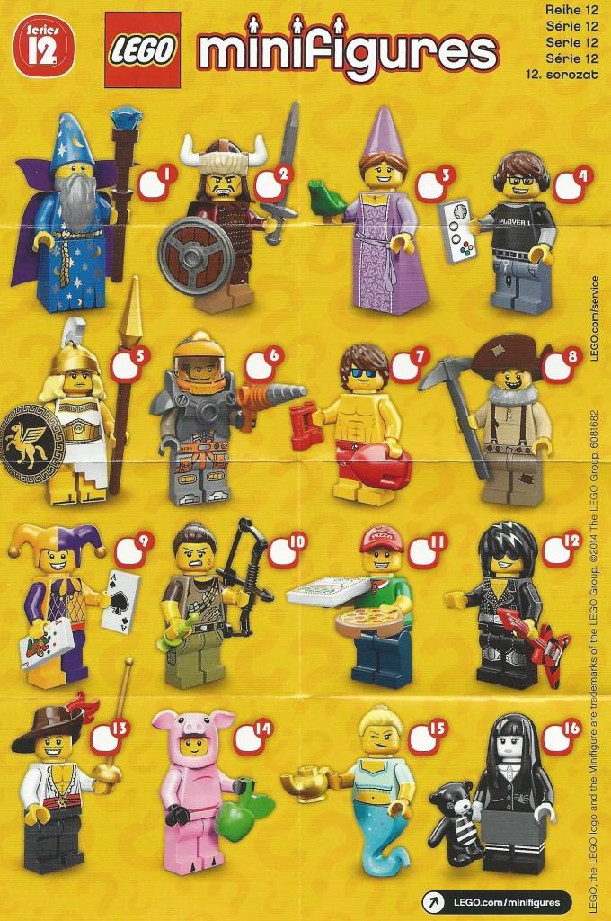 LEGO Series 12 Checklist