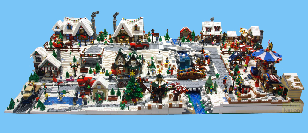 Check out this amazing LEGO Winter Village MOC by Tan Tile