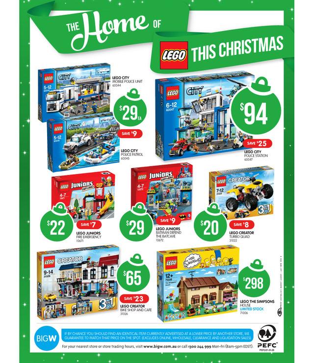 Big W LEGO Sale Page 2