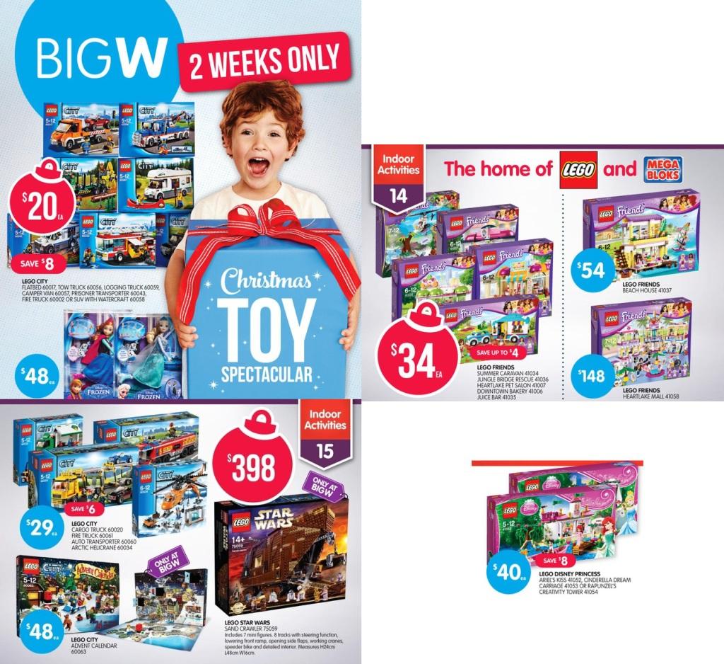 Big W November 2014 LEGO Sale