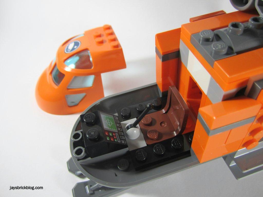 LEGO 60034 Arctic Helicrane Cockpit Interior