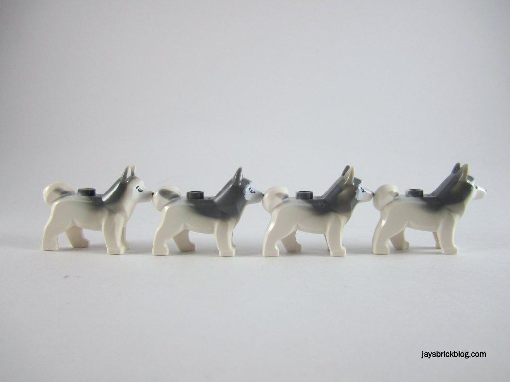 LEGO 60034 Arctic Helicrane Husky Colour Variations