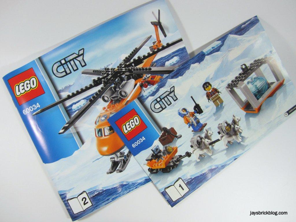 LEGO 60034 Arctic Helicrane Instruction Manuals