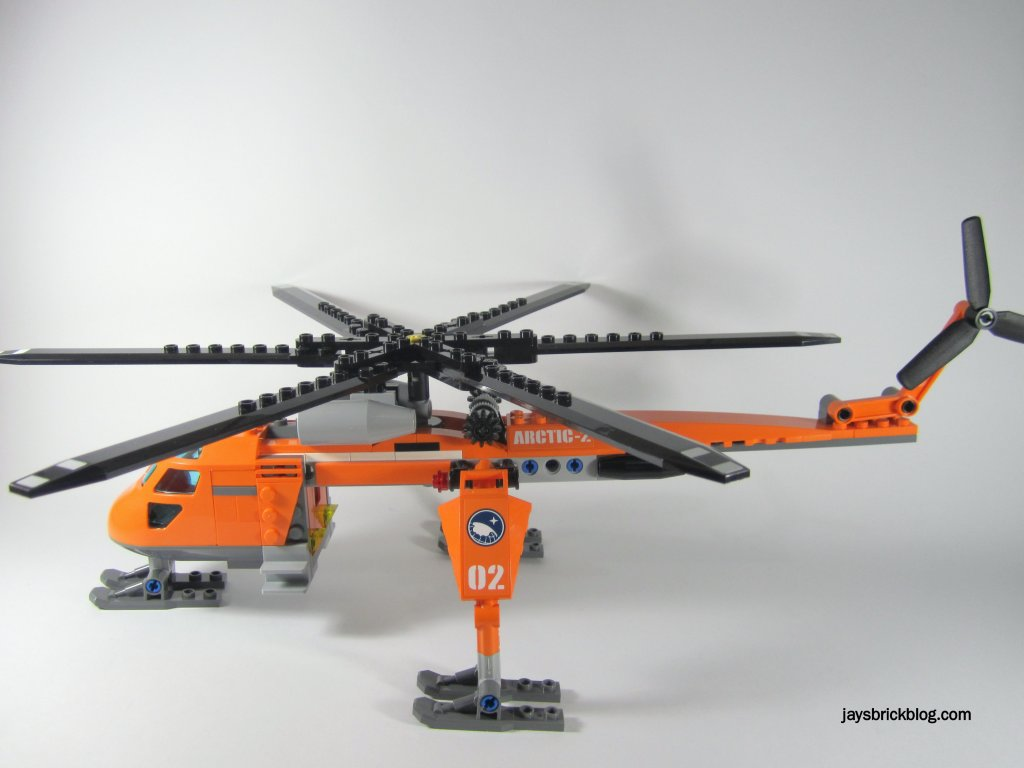 LEGO 60034 Arctic Helicrane Side View