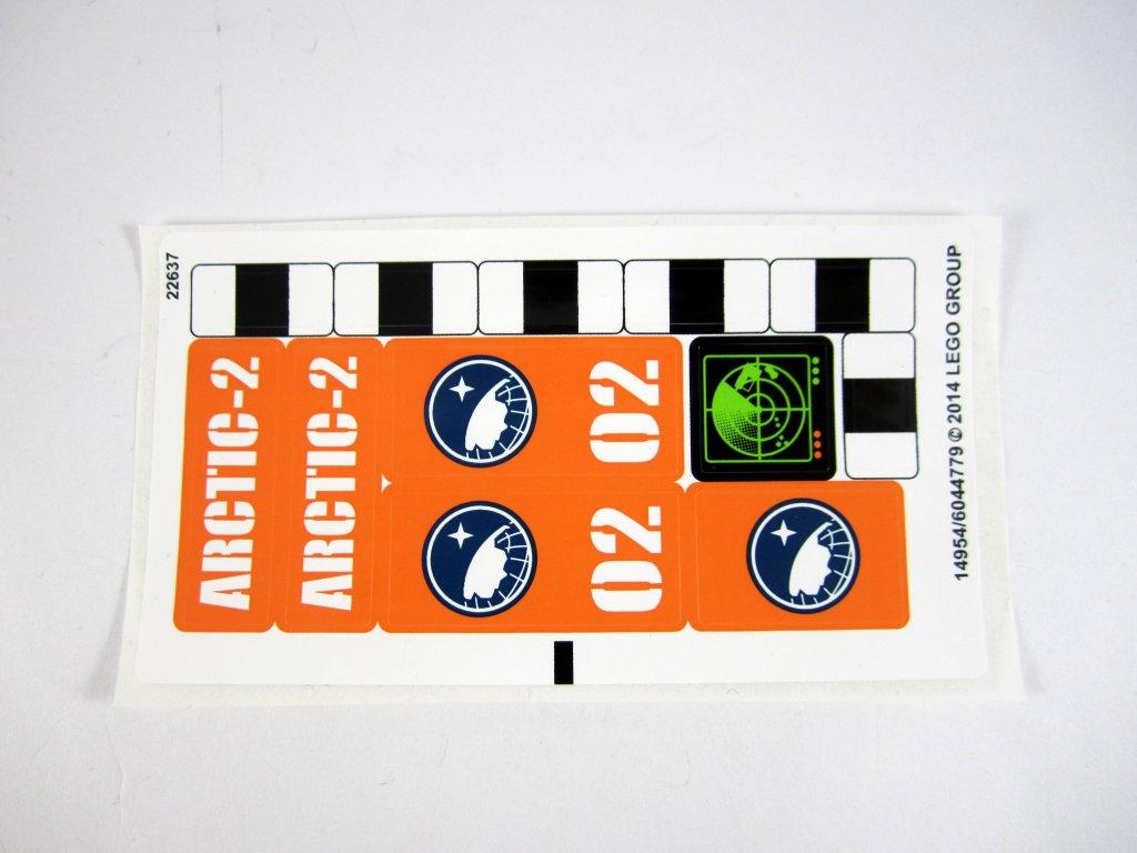 LEGO 60034Arctic Helicrane Sticker Sheet