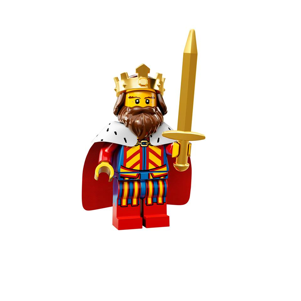 Lego Minifigures Series 13 King on old cartoon mickey mouse