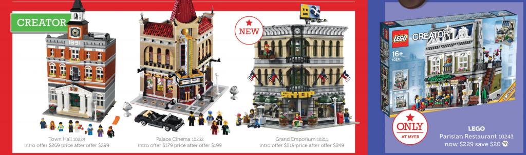 LEGO Modulars Myer Sale