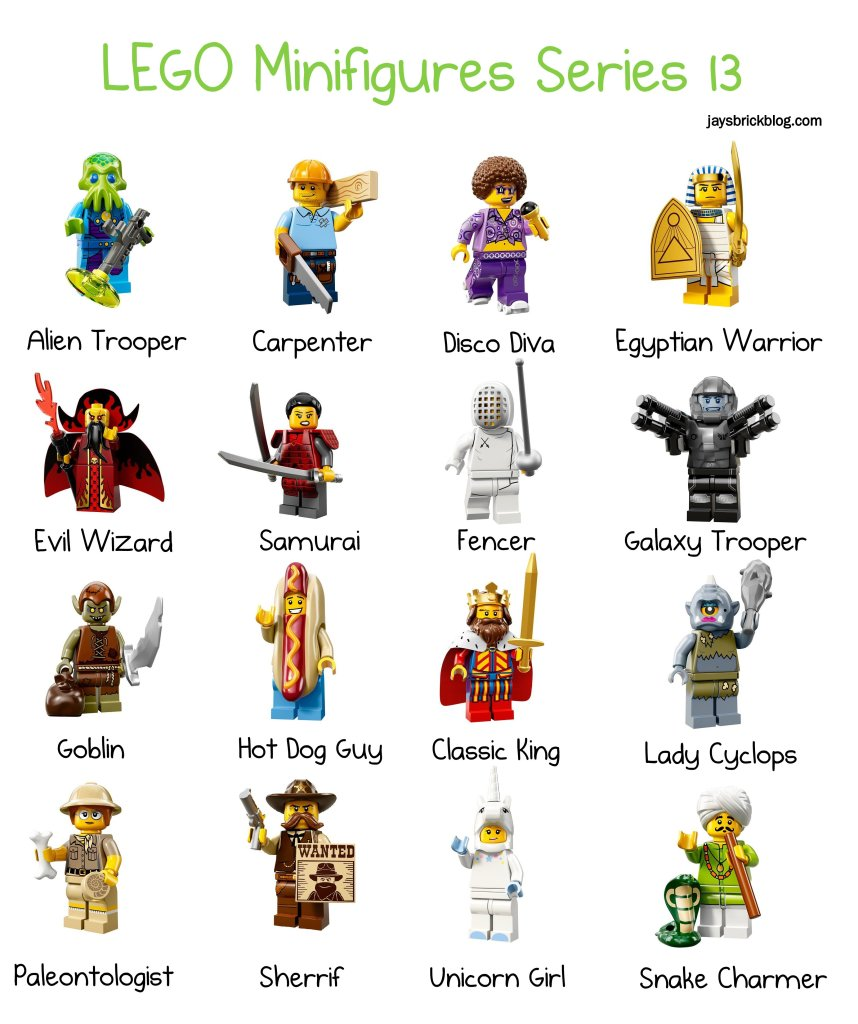 LEGO Series 13 Character Names