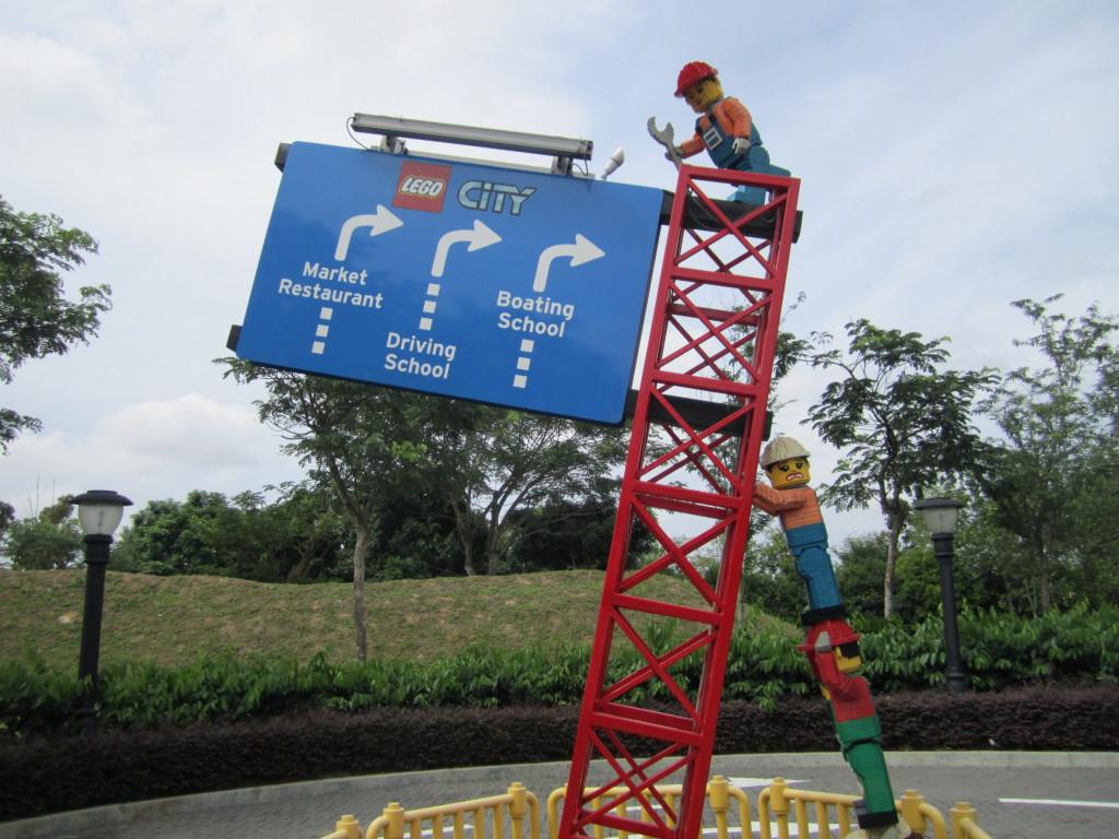 Legoland Malaysia LEGO City Sign