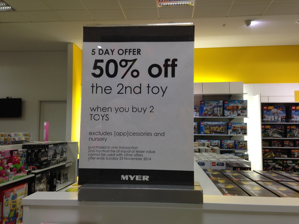 Myer 5 Day Offer Ends 23 November 2014