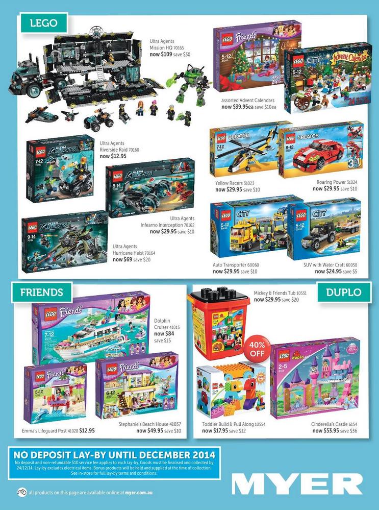 Myer November 2014 LEGO Sale