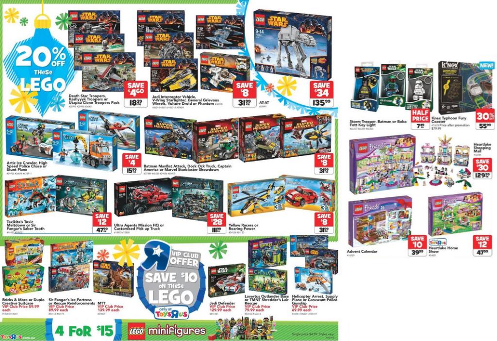 Toys R Us November 2014 LEGO Sale
