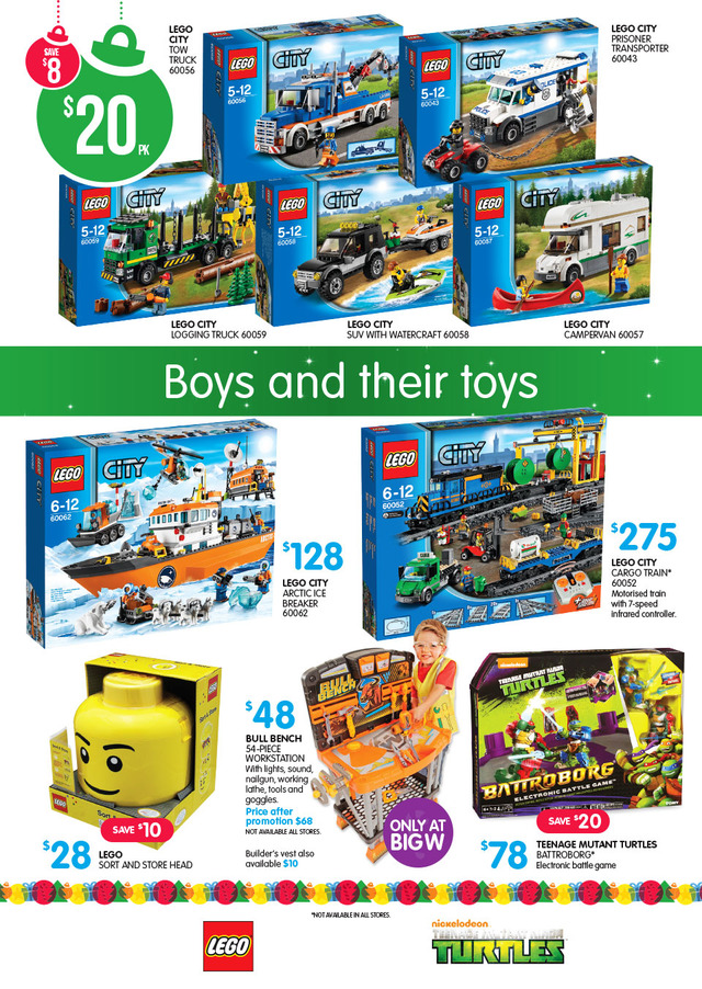 Big W LEGO Sale December 2014