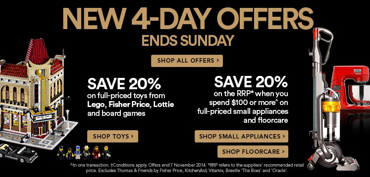David Jones LEGO 4 Day Sale