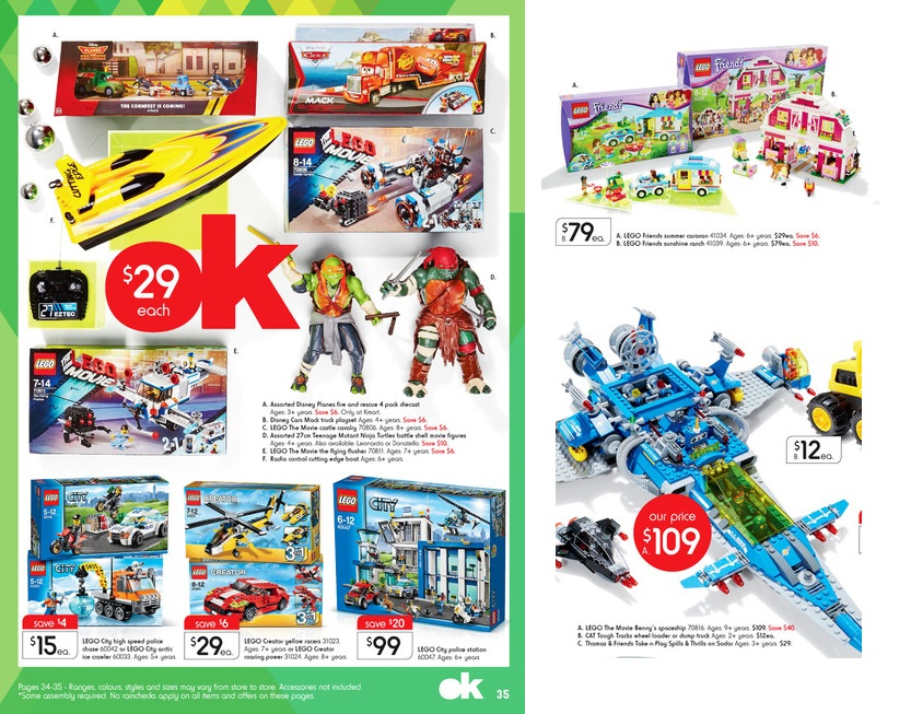 Kmart LEGO Sale December 2014