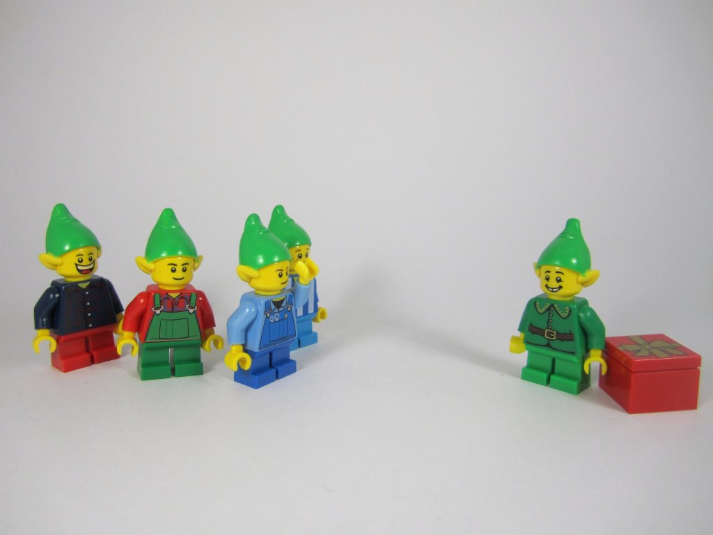 LEGO 10245 Santa's Workshop Elves Comparison