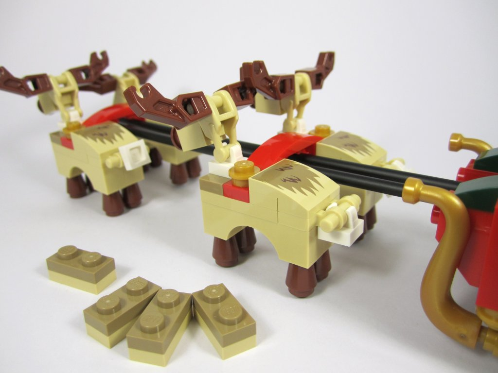 LEGO 10245 Santa's Workshop Reindeer Attached to Sleigh