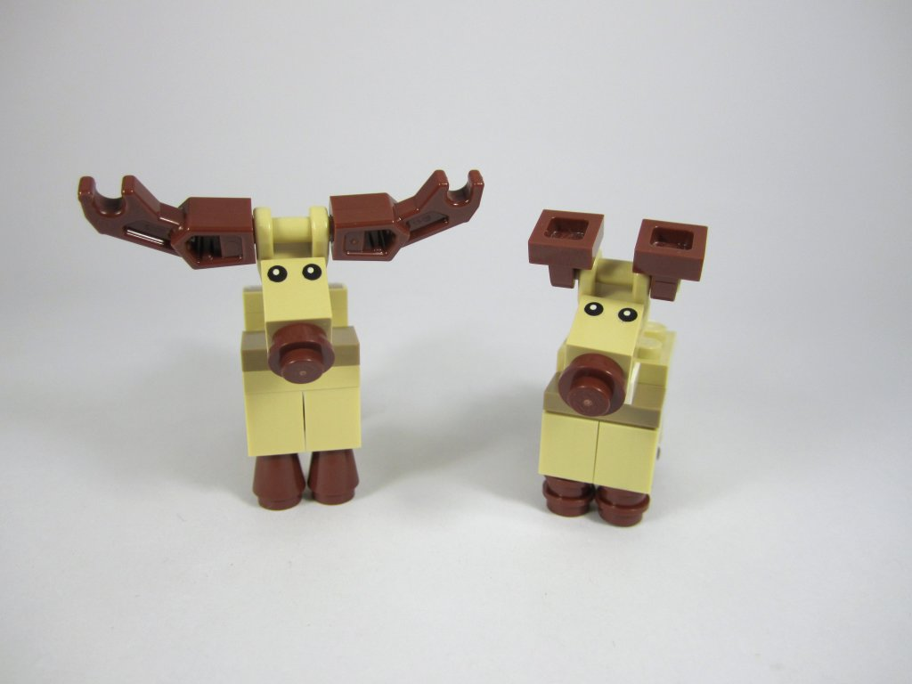 LEGO 10245 Santa's Workshop Reindeer Comparison