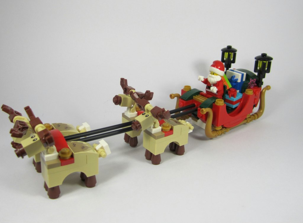 LEGO 10245 Santa's Workshop Santa's Sleigh with Reindeer