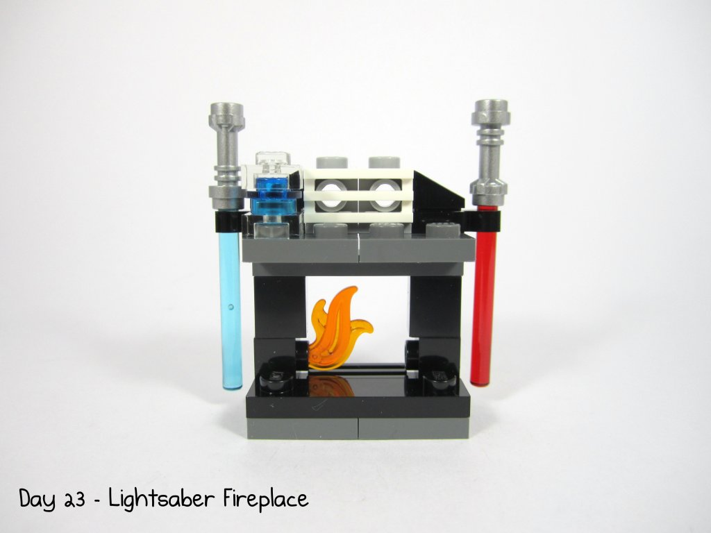 LEGO Star Wars Advent Calendar Day 23 - Lightsaber Fireplace