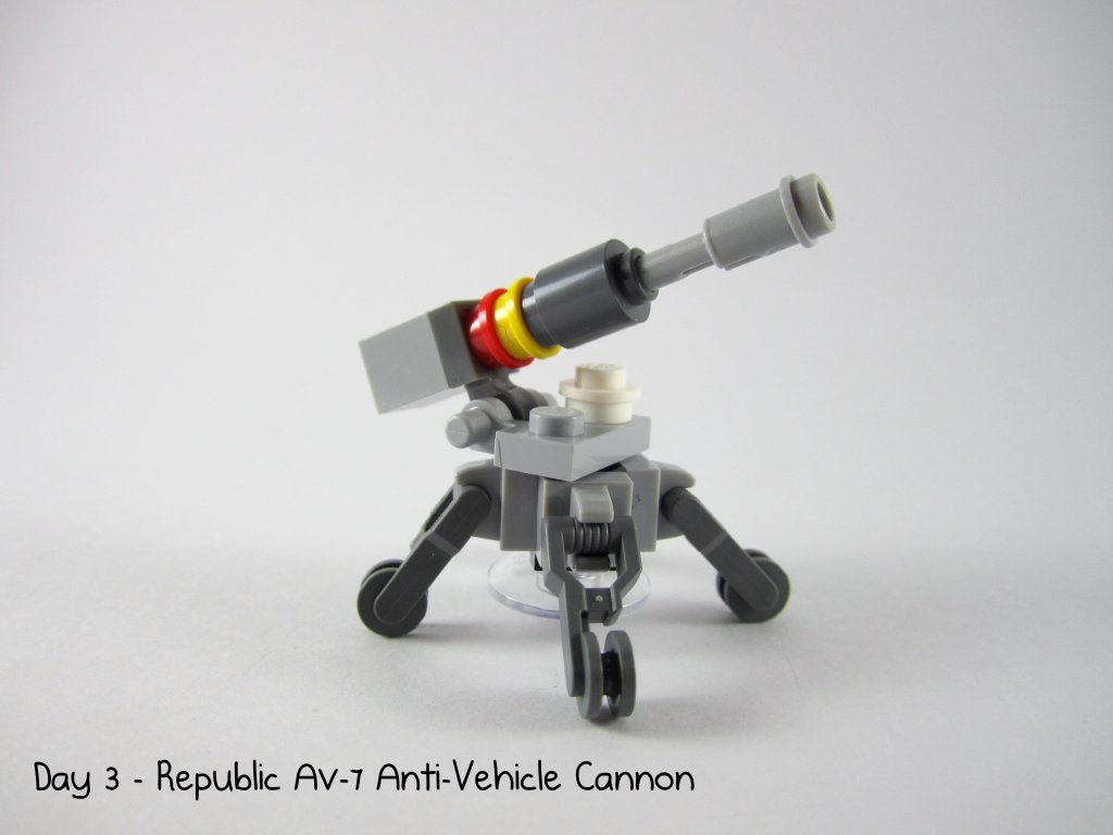 LEGO Star Wars Advent Calendar Day 3 - Republic AV-7 Anti-Vehicle Cannon