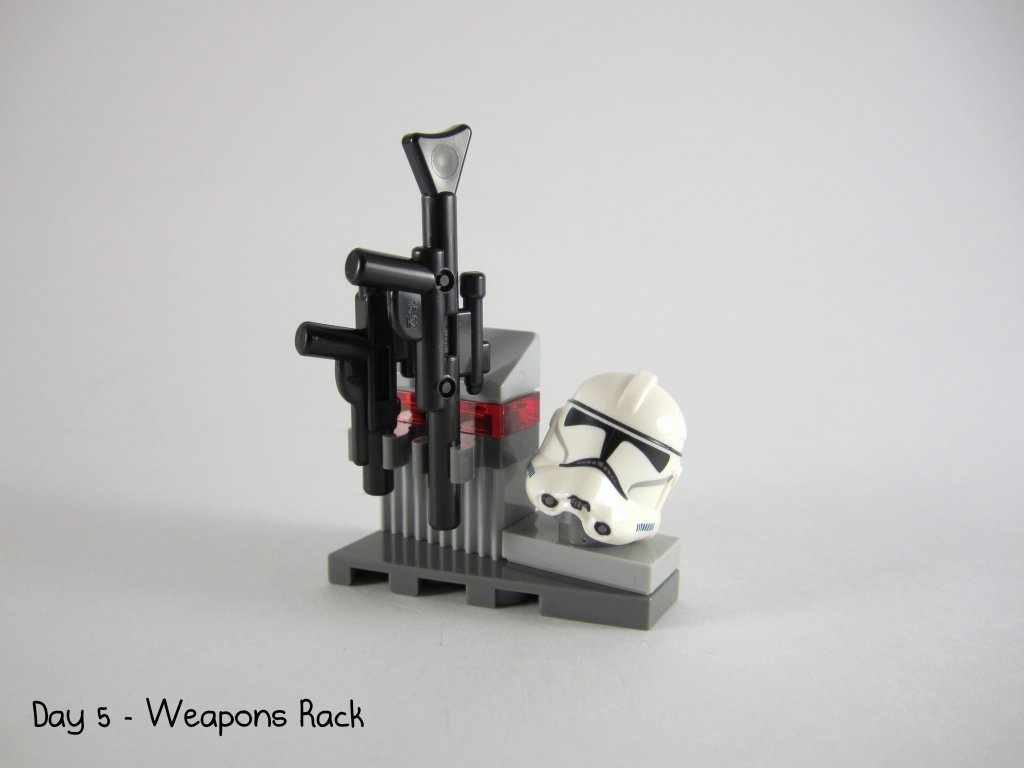 LEGO Star Wars Advent Calendar Day 5 - Weapons Rack