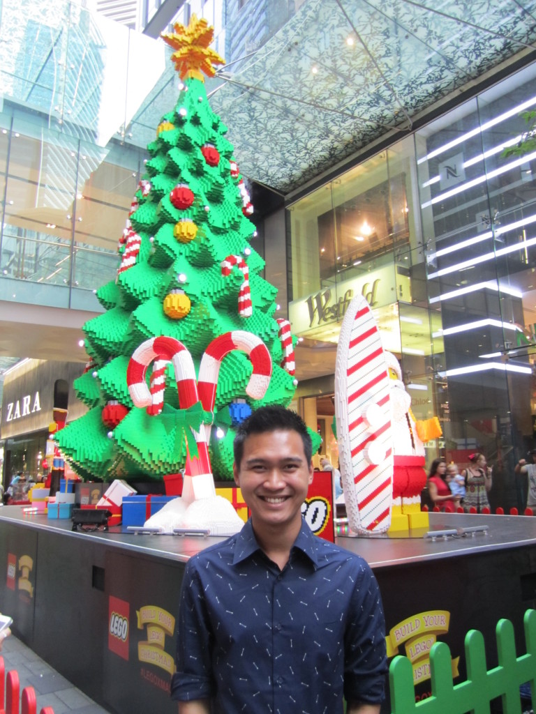 Me at the Sydney LEGO Christmas Tree