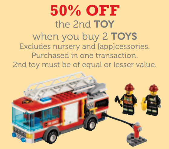 Myer 50 percent off Second Toy