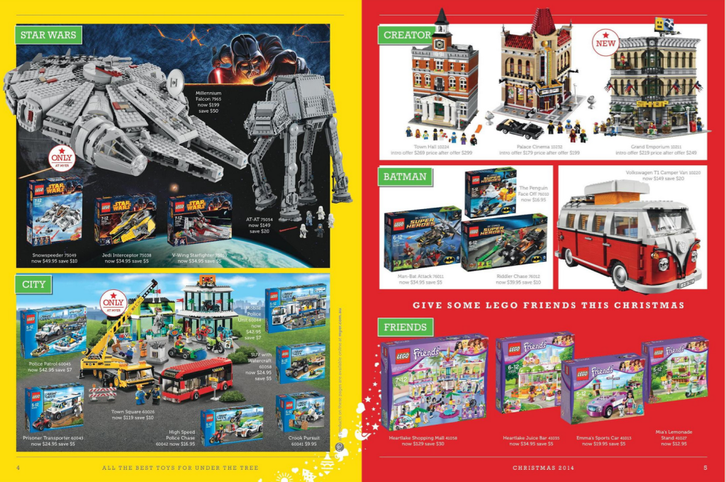 Myer LEGO Sale December 2014
