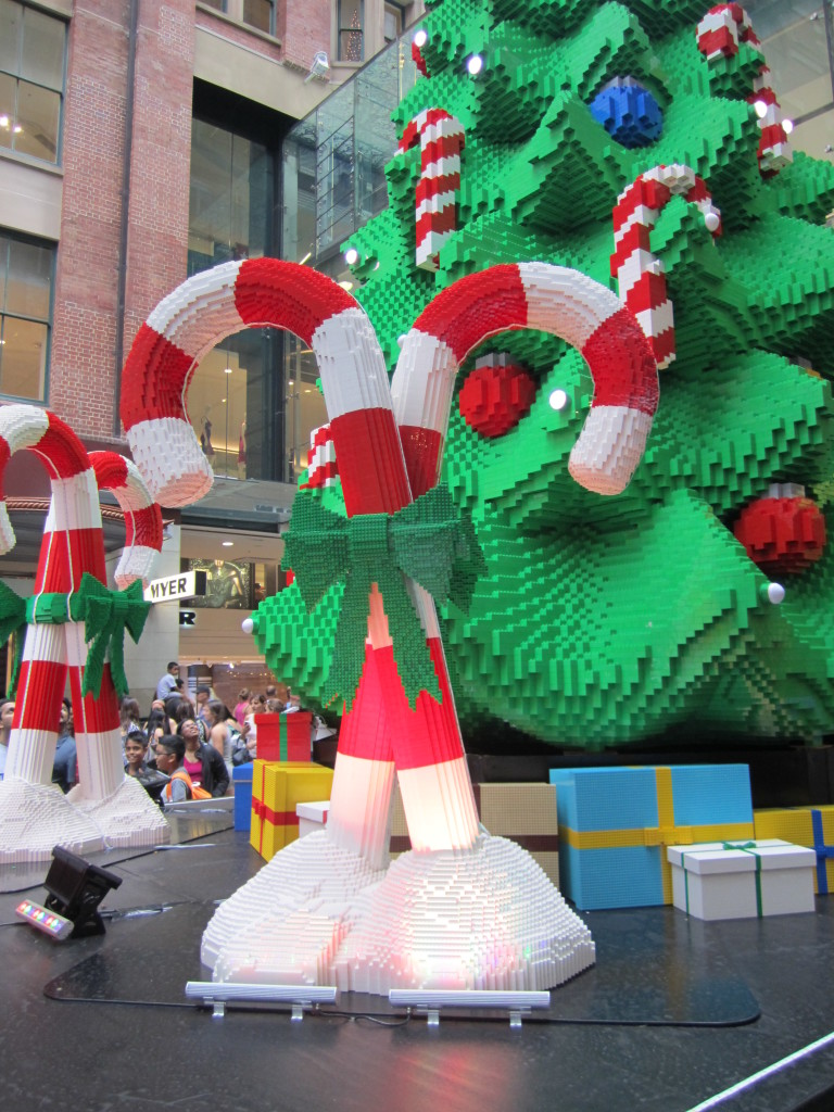 Sydney LEGO Christmas Tree Candy Canes