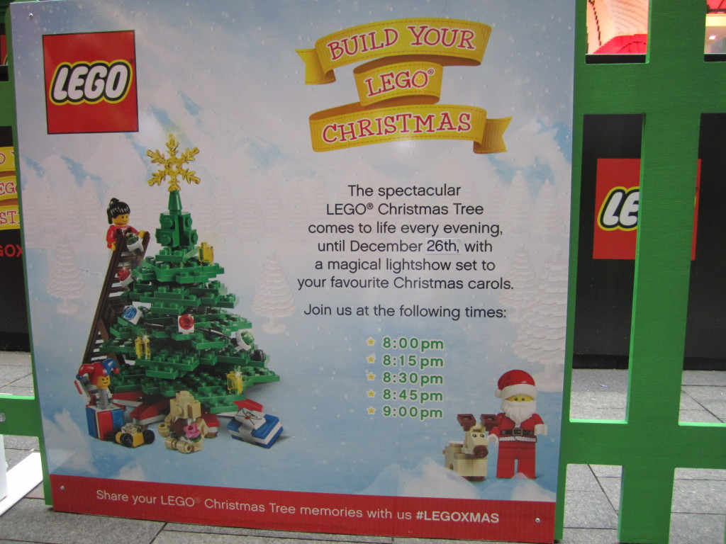 Sydney LEGO Christmas Tree Event Times