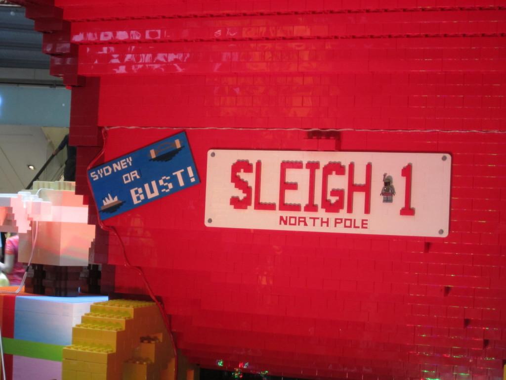 Sydney LEGO Christmas Tree Sleigh License Plate