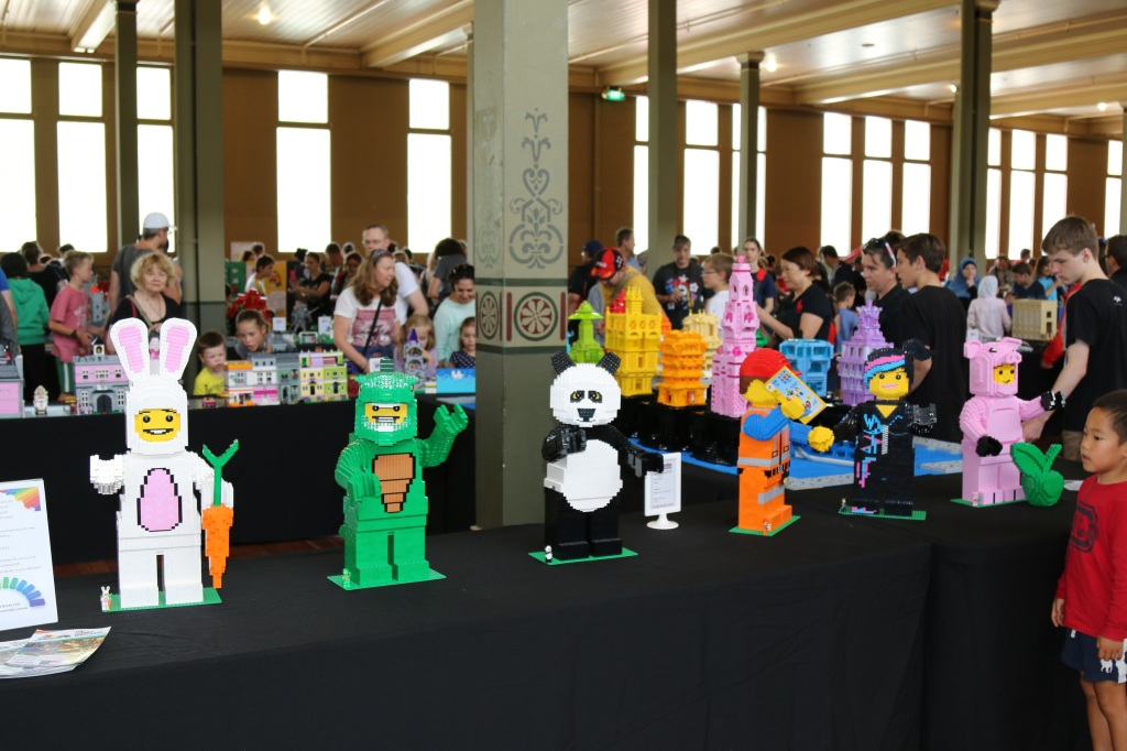 Brickvention 2015 - LEGO Animal Costume Minifigure Statues