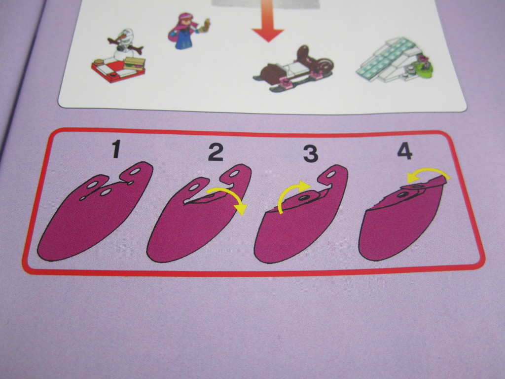 How to fold Anna Cape - Frozen LEGO
