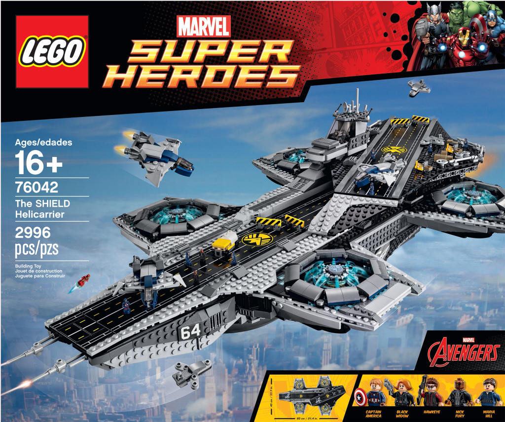 LEGO 76042 SHIELD Helicarrier - Box Art