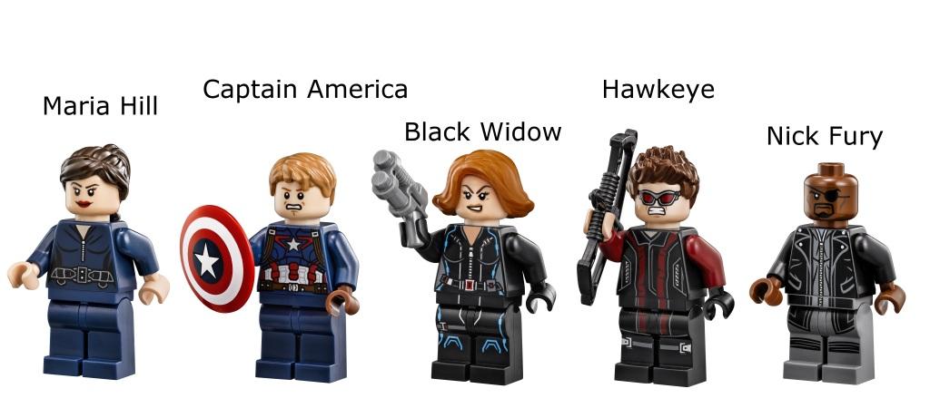 LEGO 76042 SHIELD Helicarrier - Minifigures