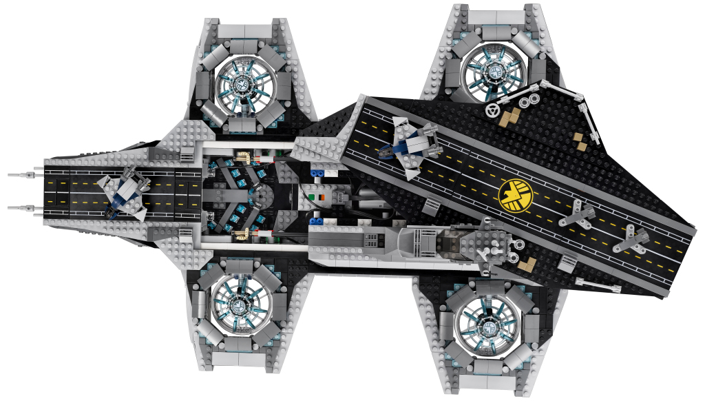 LEGO 76042 SHIELD Helicarrier - Top View