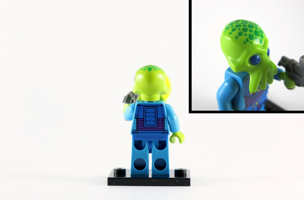 LEGO Minifigures Series 13 - Alien Trooper Back Printing and Head